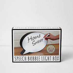 Speech bubble light box