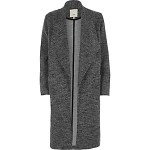 Grey tweed fallaway jacket