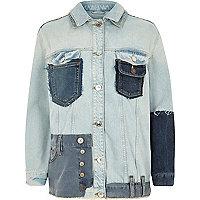 Mittelblaue Oversized Jeans