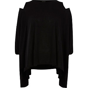 Black cut out loose top