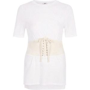 Cream corset T-shirt