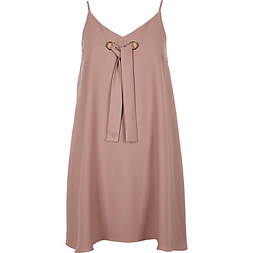 Light pink eyelet slip dress