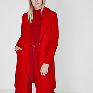 Red tailored coat