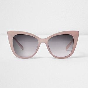 Cateye-Sonnenbrille in Hellrosa