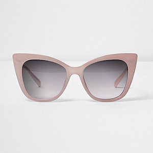 Lichtoze cat-eye-zonnebril met grijze glazen