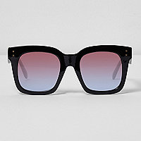 Black oversized ocean lens sunglasses