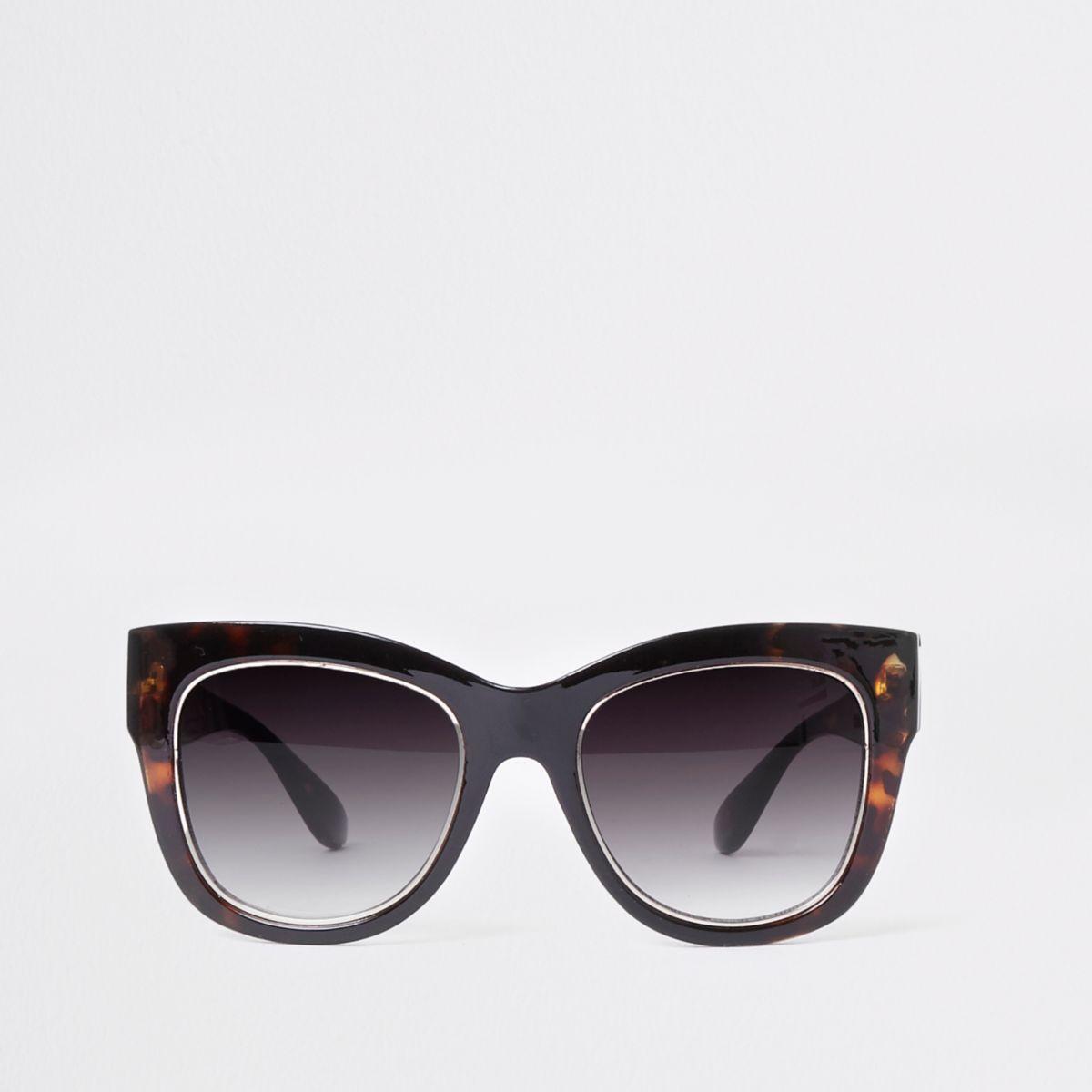 Brown tortoiseshell glam sunglasses