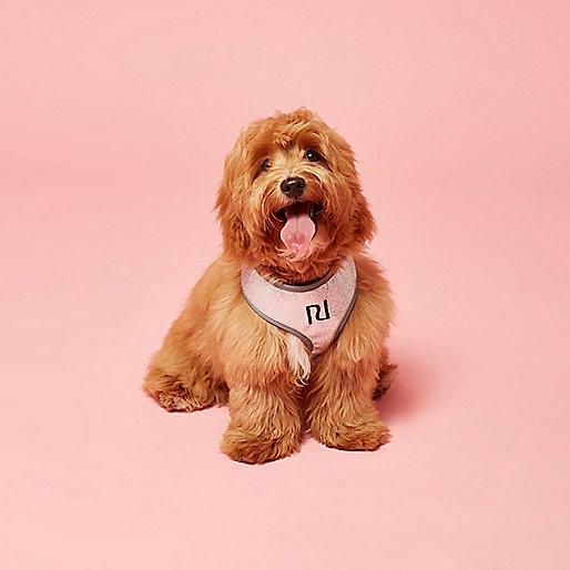 RI Dog silver glitter harness