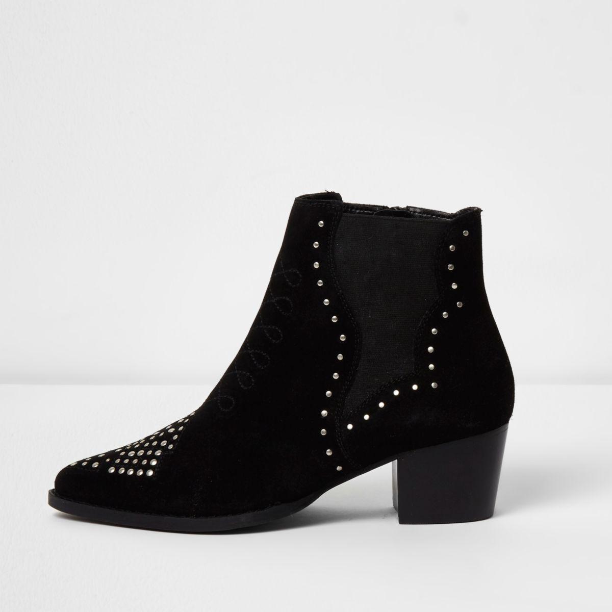 Zwarte western laarzen met studs