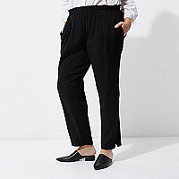 Plus black tapered pants