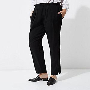 RI Plus - zwarte smaltoelopende broek
