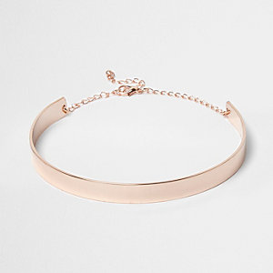 Rose gold thin choker
