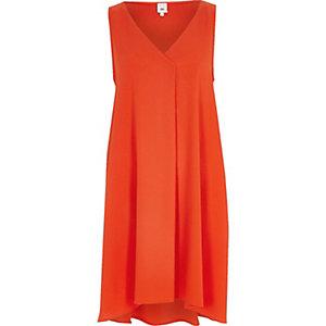 Robe trapèze orange sans manches