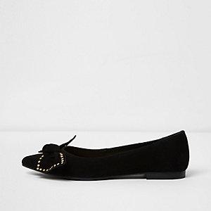 Bruine schoenen met luipaardprint en strik voor