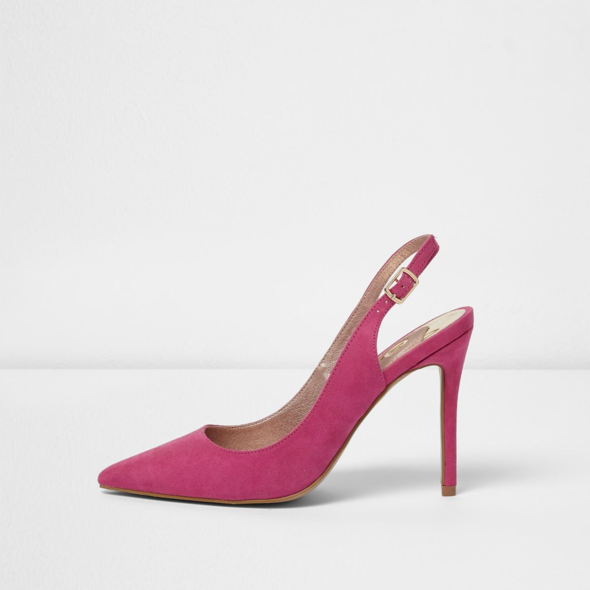 Pink slingback pumps