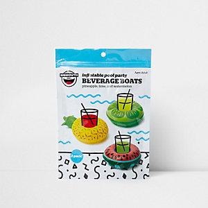 Porte-gobelets gonflables flottants motif fruit