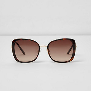 Brown tortoiseshell glam sunglasses