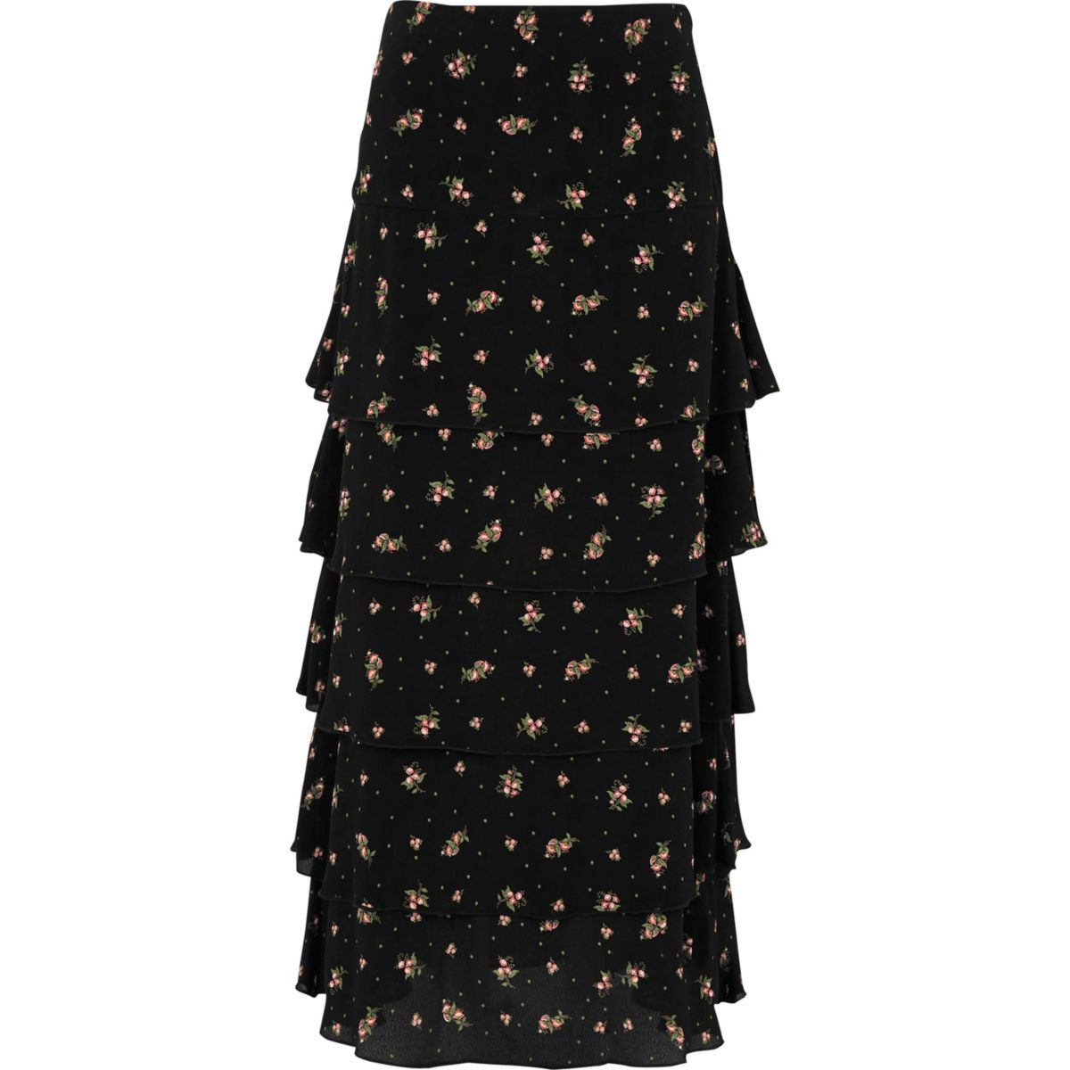 Long black dressy skirt has a flattering cut that is flat at top and goes out on bottom Long cut falls down to the floor Pull on style Machine Wash View full product details Size Guide.