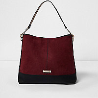 Dark red underarm slouch bag