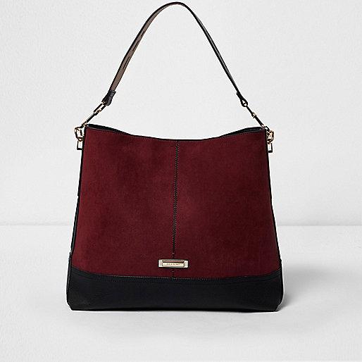 Dark red underarm slouch bag