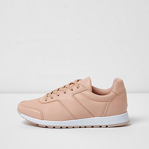 Light pink runner trainers