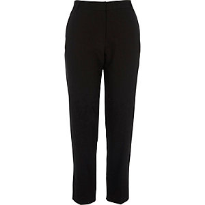 Black tapered smart pants