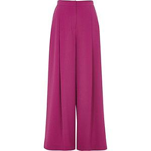 Pink wide leg pants
