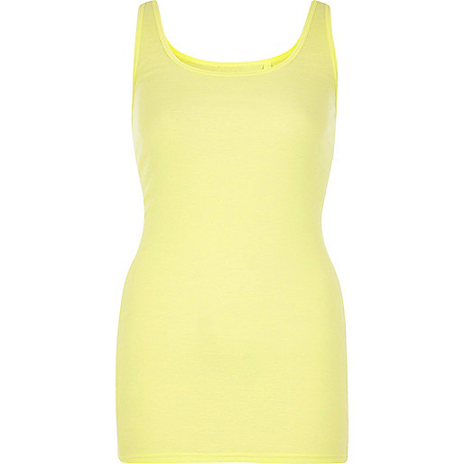 Yellow scoop neck vest