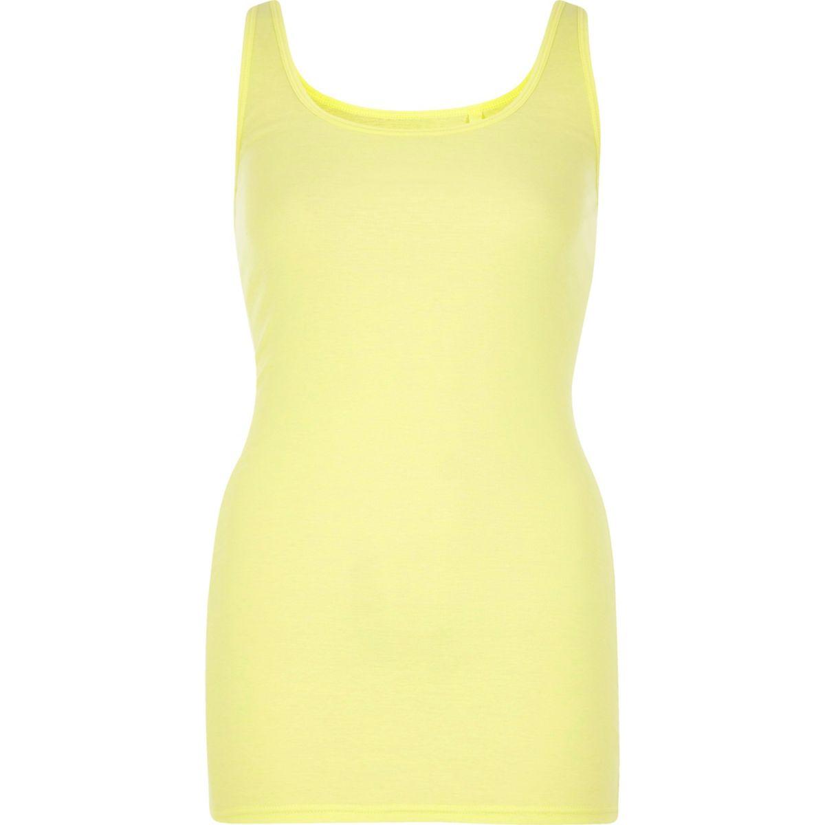 Yellow scoop neck vest