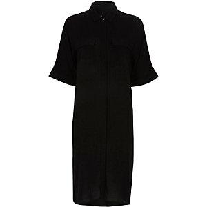 Robe chemise mi-longue noire