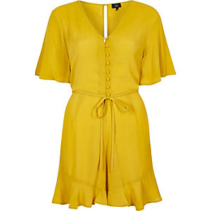 Yellow tea dress style playsuit