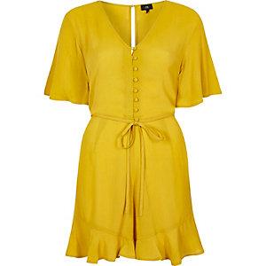 Combi-short jaune façon robe d'été