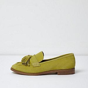 Gelbe Loafer aus Wildleder