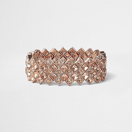 Rose gold diamante bracelet