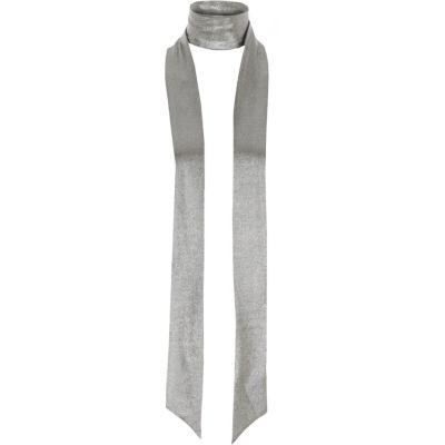 Zilverkleurige metallic smalle sjaal