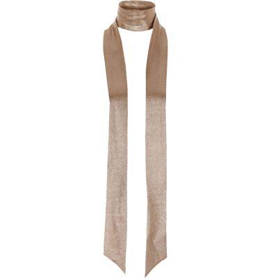 Metallic bronzen smalle sjaal