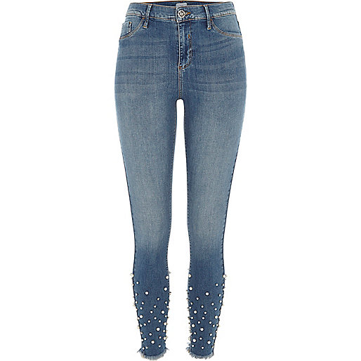 Mid authentic blue Molly embellished jeggings