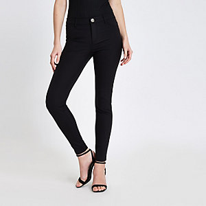 Black Molly skinny fit trousers