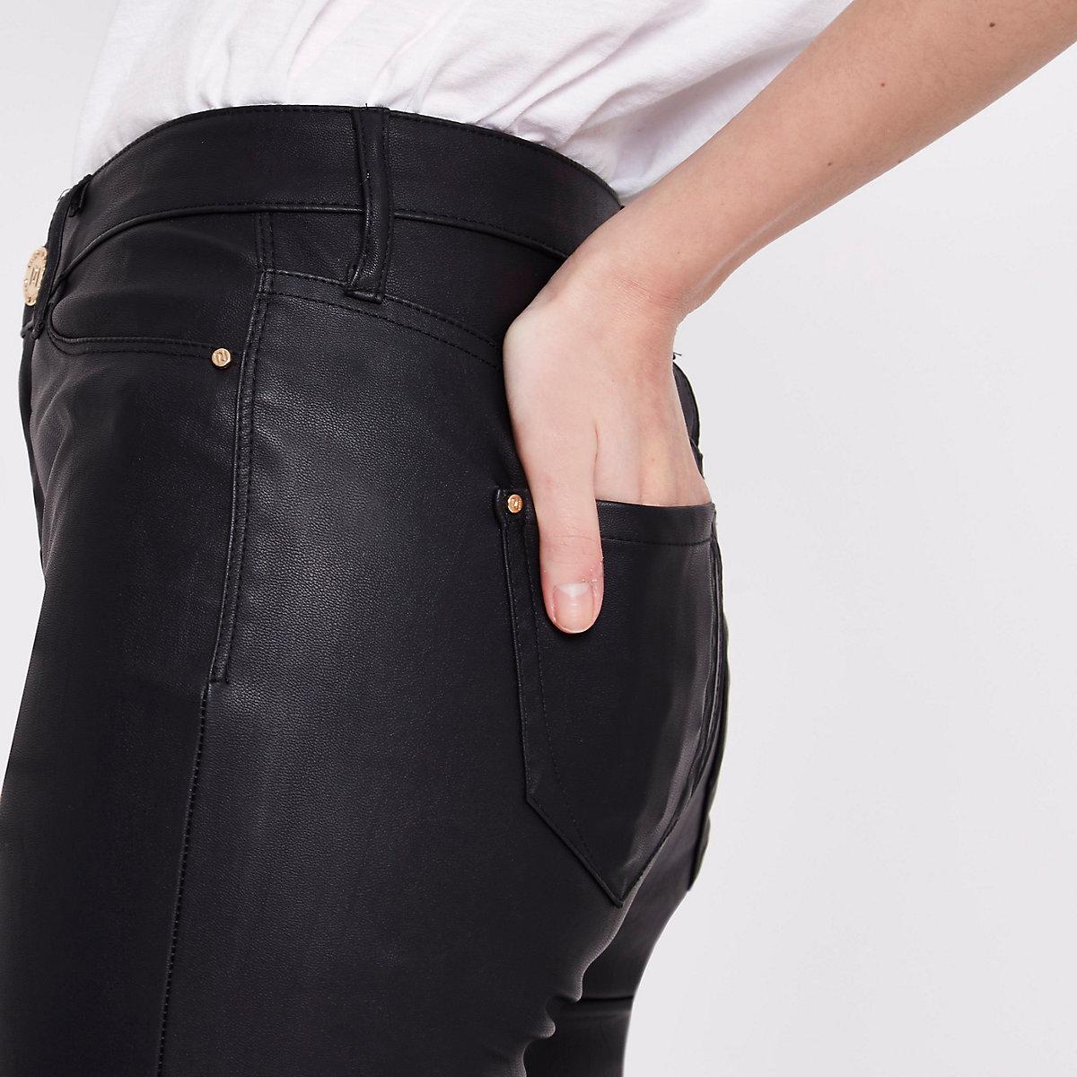 Molly – Schwarze Skinny Fit Hose aus Lederimitat - Skinny Fit Hosen ... 49e0118564