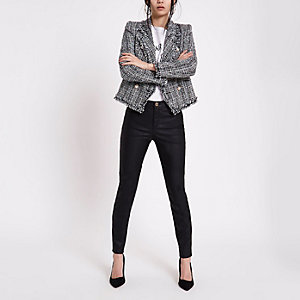 Molly – Schwarze Skinny Jeans aus Lederimitat