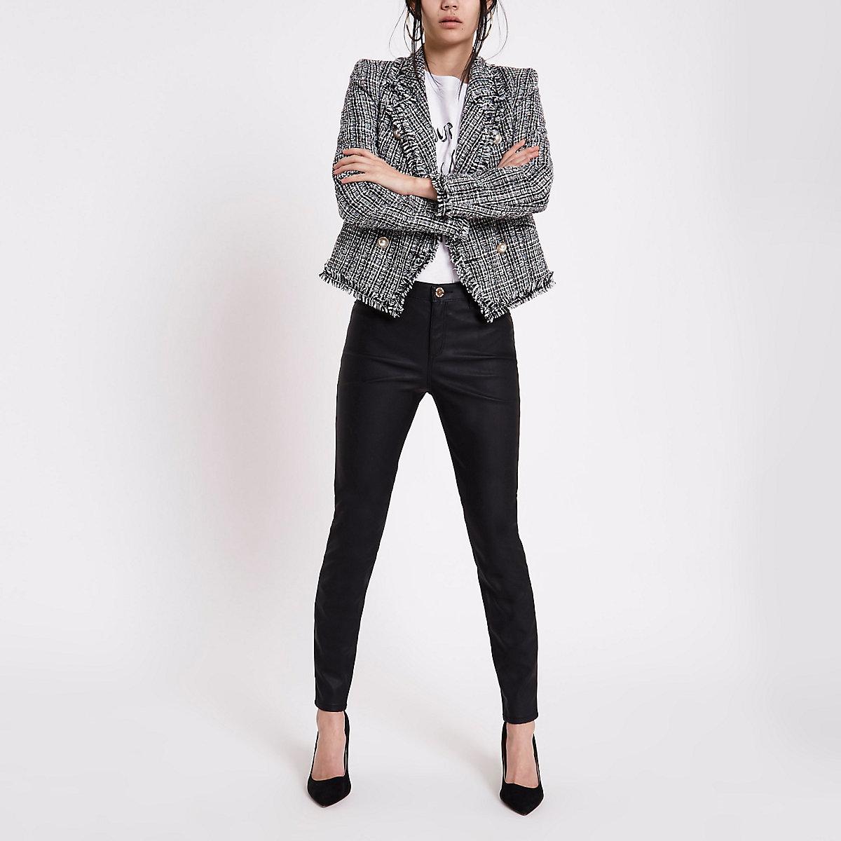 Molly – Schwarze Skinny Fit Hose aus Lederimitat