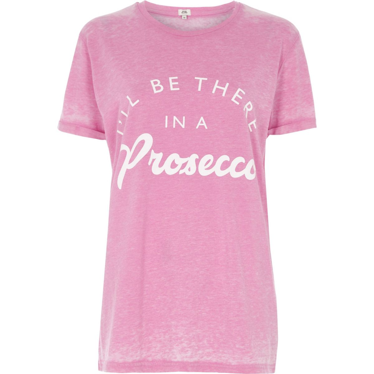 "Pinkes T-Shirt ""I'll be there in a prosecco"""
