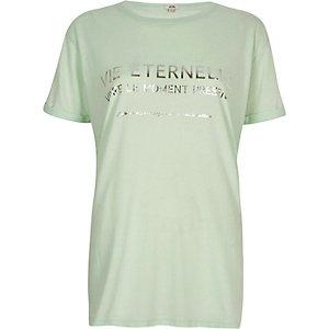 """Grünes Boyfriend-T-Shirt mit """"Vie""""-Print"""