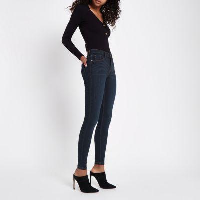 Amelie Donkerblauwe superskinny jeans