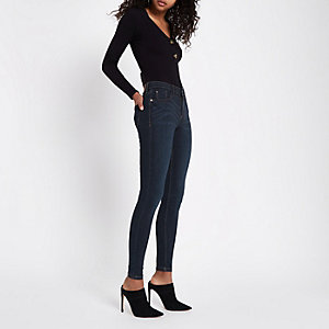 Jean super skinny Amelie bleu foncé
