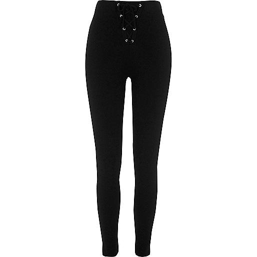 Black corset leggings
