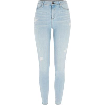 Molly Lichtblauwe ripped skinny-fit jegging