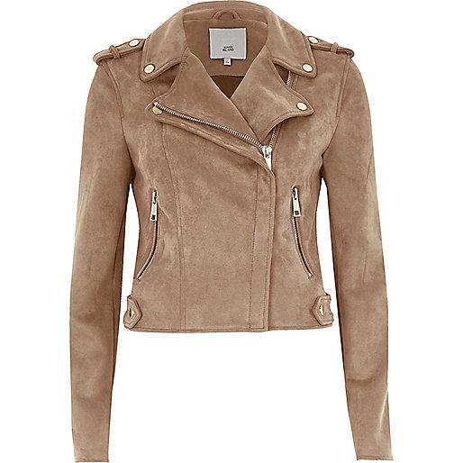 Dark beige biker jacket