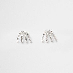 Silberne Ohrringe mit Diamanten