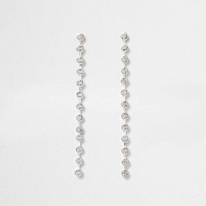 Silberne, lange Ohrringe